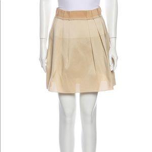 """BALENCIAGA Size 40 laser cut """"bandaid"""" mini skirt"""
